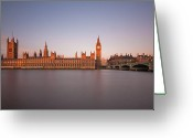 Tall Building Greeting Cards - Houses Of Parliament At Dawn Greeting Card by Tu xa Ha Noi