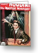 Houdini Greeting Cards - Housini in The Master Mystery Greeting Card by Unknown