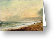 Romanticism Photo Greeting Cards - Hove Beach Greeting Card by John Constable