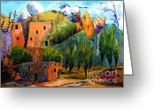 Cliff Painting Greeting Cards - Hovenweep The Penthouse  Greeting Card by Charlie Spear