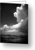 Oceano Greeting Cards - How deep is the ocean how high is the sky Greeting Card by Mauricio Jimenez