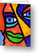 Face. Colorful Greeting Cards - How Do I Look Greeting Card by Steven Scott