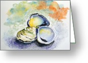 Oysters Greeting Cards - How many can I have Greeting Card by Sibby S