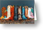 Cowboy Boots Greeting Cards - How the West Was Really Won Greeting Card by Frances Marino