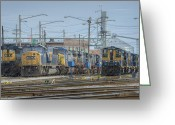 Evansville Greeting Cards - Howell Yards Evansville Indiana Greeting Card by Jim Pearson