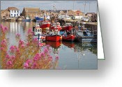 Quay Greeting Cards - Howth harbour Greeting Card by Gabriela Insuratelu
