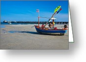 Huahin Greeting Cards - Hua Hin Fish Pier Greeting Card by Chayathon Wonganuchitmetha