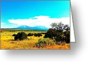 Spanish Peaks Greeting Cards - Huajatolla two Breasts Greeting Card by Joseph Mora