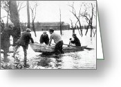 Row Boat Greeting Cards - Hudson River Flood, 1913 Greeting Card by Science Source