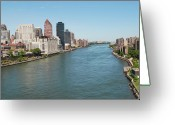 Hudson River Greeting Cards - Hudson River, New York City Greeting Card by Thepurpledoor