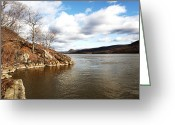 New York New York Com Greeting Cards - Hudson River View Greeting Card by John Rizzuto
