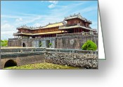 Forbidden City Greeting Cards - Hue Citadel Greeting Card by MotHaiBaPhoto Prints