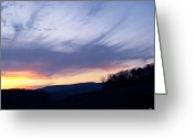 The Nature Of Sunsets Greeting Cards - Hues Of Sunset Greeting Card by Debra     Vatalaro