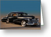 1947 Cadillac Greeting Cards - Hueys 47 Greeting Card by Bill Dutting