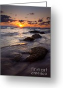 Ebb Greeting Cards - Hug Point Tides Greeting Card by Mike  Dawson
