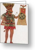 Mesoamerican Greeting Cards - Huitzilopochtli, Aztec God Of War Greeting Card by Photo Researchers