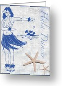 Island Artist Pastels Greeting Cards - Hula Dancer Greeting Card by William Depaula