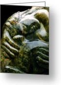 Stone Sculpture Greeting Cards - Hula Kahiko Greeting Card by Angela Treat Lyon