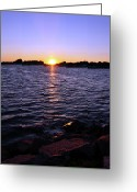 Hull Ma Greeting Cards - Hull of a Sunset Greeting Card by Joanne Brown