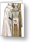 1300s Greeting Cards - Human Dissection, 14th Century Artwork Greeting Card by Sheila Terry