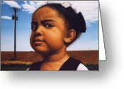 Baby Girl Greeting Cards - Human-Nature Number Thirteen Greeting Card by James W Johnson