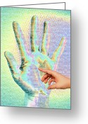 Gestures Greeting Cards - Human Touch Greeting Card by Maigi