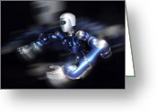 Future Tech Greeting Cards - Humanoid Robot, Artwork Greeting Card by Detlev Van Ravenswaay