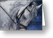 Fine Art - Animals Greeting Cards - Humble Beauty Greeting Card by Enzie Shahmiri