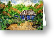Caribbean Homes Greeting Cards - Humble Beginnings Greeting Card by Nickola McCoy-Snell