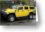 Four-wheel Greeting Cards - Hummer 4x4 Vehicle Greeting Card by Victor De Schwanberg