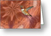 Nexus Greeting Cards - Hummingbird Portal Greeting Card by Gregory Scott