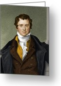 Scientists Greeting Cards - Humphry Davy, British Chemist Greeting Card by Maria Platt-evans