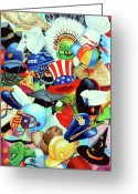 Charro Greeting Cards - Hundreds of Hats Greeting Card by Hanne Lore Koehler