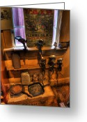 Kg Greeting Cards - Hunterdon County Fair - General Store - vintage - nostalgia - meat grinders Greeting Card by Lee Dos Santos