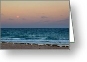Moonrise Photo Greeting Cards - Hunters Moon Greeting Card by Michelle Wiarda