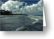 Surf Photos Art Greeting Cards - Hunting Island Surf Greeting Card by Skip Willits