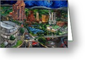 Center Greeting Cards - Huntsville Skyline Greeting Card by Carole Foret