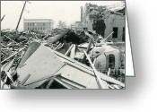 Devastation Greeting Cards - Hurricane Camille Devastation Greeting Card by Science Source