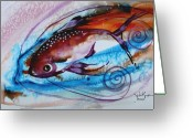 Tropical Fish Greeting Cards - Hurricane Fish 28 Greeting Card by J Vincent Scarpace