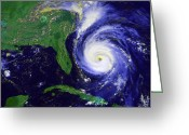 Disasters Greeting Cards - Hurricane Fran Greeting Card by Stocktrek Images
