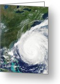 Isabel Greeting Cards - Hurricane Isabel, 17th September 2003 Greeting Card by Nasa