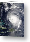 Isabel Greeting Cards - Hurricane Isabel In The Caribbean Sea Greeting Card by NASA / Science Source