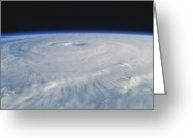 Isabel Greeting Cards - Hurricane Isabel Greeting Card by Purestock