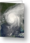 Most Greeting Cards - Hurricane Katrina Greeting Card by NASA / Science Source