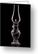 Burn Greeting Cards - Hurricane Lamp Still Life Greeting Card by Tom Mc Nemar