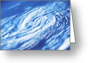 Outerspace Greeting Cards - Hurricane Greeting Card by Science Source