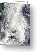 Nature Body Greeting Cards - Hurricane Tomas Greeting Card by Stocktrek Images