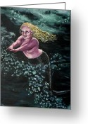 Marenart Greeting Cards - Hurry hurry love come to me Greeting Card by Maren Jeskanen