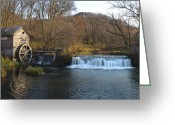 Mill Greeting Cards - Hyde Mill Wisconsin Greeting Card by Steve Gadomski