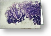 Purple Flower Greeting Cards - Hydrangea In Vase Greeting Card by Silvia Otten-Nattkamp Photography